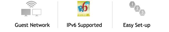 Réseau invité, paramétrage aisé et support de la technologie IPv6