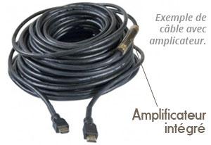 cable hdmi haute vitesse ethernet avec chipset 30m a/a