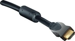 cable hdmi HQ avec ferrite 1m avec gaine de protection tressée