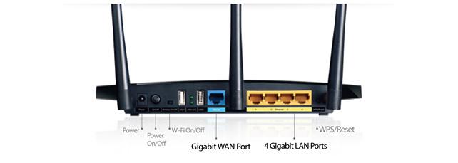 4 ports Gigabit : pleine puissance avec le TP-Link Archer C7