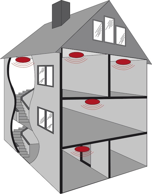 d tecteur avertisseur autonome de fum e abus rm13nf ce nf achat vente sur. Black Bedroom Furniture Sets. Home Design Ideas