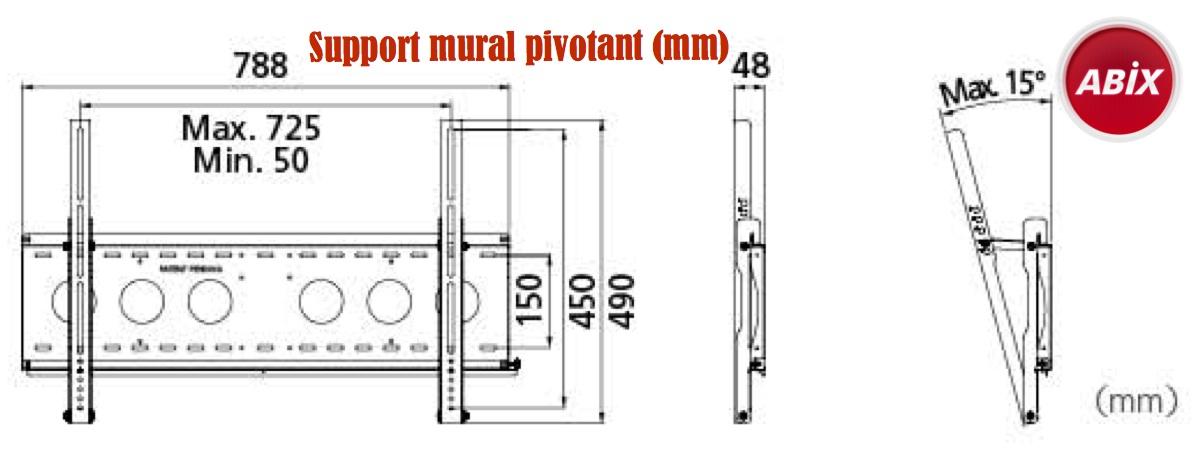 support mural pivotant LCD / Plasma 32 pouces à 60 pouces