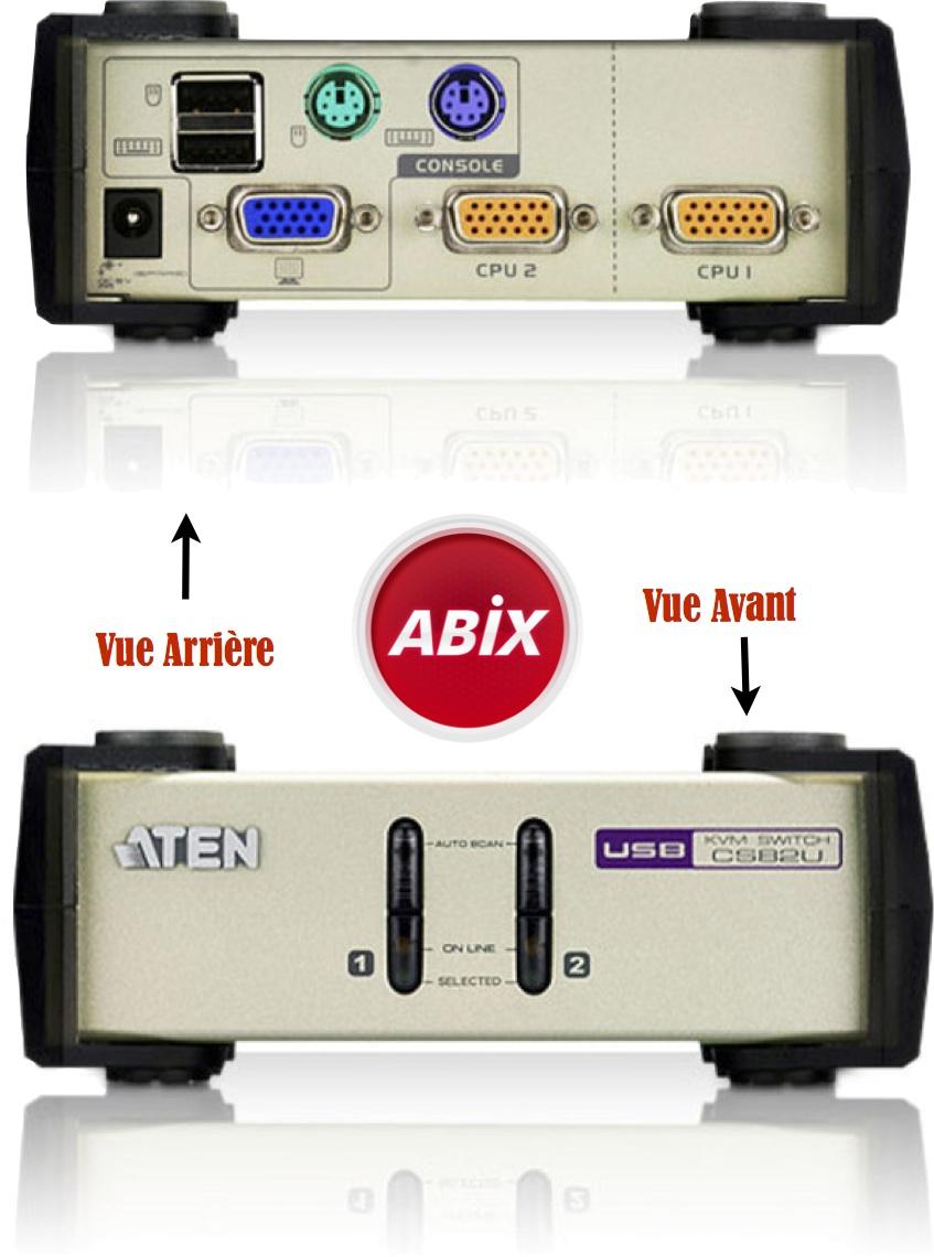 switch kvm VGA USB PS/2 Aten CS82U