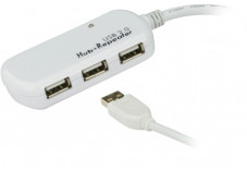 ATEN UE2120H rallonge amplifiée USB 2.0 12M + hub 4 Port