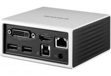 Station d'accueil USB 3.0 double écran HDMI 4K + DVI-VGA + LAN + Hub 4 ports