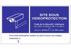 Panneau mural en PVC de signalisation d'une vidéosurveillance