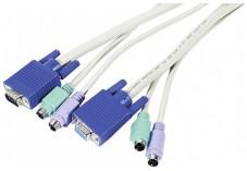 Cordon KVM VGA M/F et PS2 M/M - 1,8M
