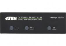 Commutateur 2 PORTS vga + audio+ RS232 aten VS0201 300MHz