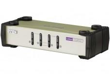 Aten CS84U Switch KVM 4 ports combo VGA/USB+PS2 + Cables