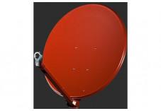 GIBERTINI OS66P-R parabole satellite aluminium 65cm rouge brique