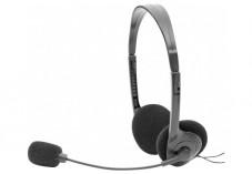 DACOMEX Casque-Micro Stéréo Ajustable USB noir