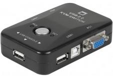 Mini kvm switch vga/usb 2 ports