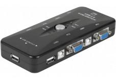 Mini kvm switch vga/usb 4 ports
