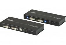 Aten CE604 prolong. KVM double écran DVI/USB/AUDIO/RS232 60M