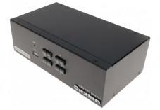 DEXLAN KVM 4 PORTS DOUBLE ECRAN HDMI 4K / USB 2.0 + câbles