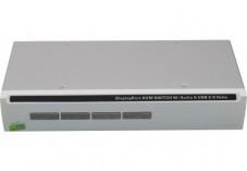 Switch kvm de bureau displayport/usb/audio 4 ports + câbles