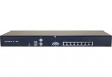 DEXLAN KVM CAT.5 8 PORTS VGA/USB AVEC 8 MODULES RJ45 60m max