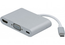 Convertisseur USB 3.1 Type C vers HDMI +VGA + CHARGE TYPE C