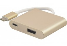 Convertisseur USB 3.1 Type-C vers HDMI 2.0 + PowerDelivery
