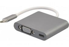 Convertisseur USB 3.1 Type-C vers VGA + PowerDelivery