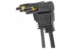 Câble HDMI HighSpeed articulé - Noir - (1,8m)