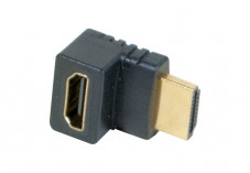 Adaptateur HDMI m/f coude 90° or - modele b