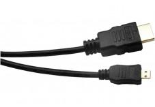 Câble Micro HDMI vers HDMI HighSpeed Ethernet HQ 3m