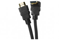 Câble HDMI HighSpeed Ethernet brassage coude - noir 2m