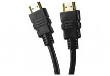 Câble HDMI HighSpeed Ethernet brassage droit - noir 0,50m