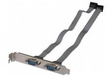 Equerre slot série DB9 2 ports