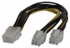 Doubleur d'alimentation PCI Express 6 pins -15 cm