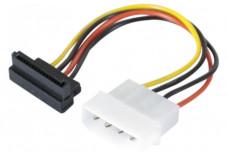 Adaptateur d'alimentation Molex vers SATA Coudé - 15 cm