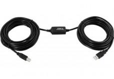 CABLE USB 2.0 A/B amplifié 10M spécial imprimante