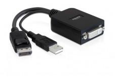 DELOCK Convertisseur actif DisplayPort vers DVI Femelle