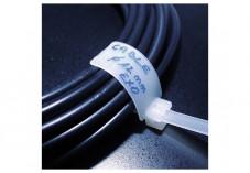 Lien serre-câbles avec porte-étiquette 28 x 12 mm - 100 pcs - 180 x 4,6 mm