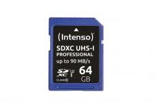 INTENSO Carte SDXC UHS-I Professional Class 10 - 64 Go