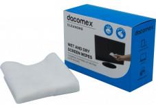 DACOMEX Boîte de 2 x 10 lingettes humides / sèches pour LCD
