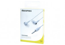 DACOMEX Ecouteurs intra-auriculaires jack 3.5 mm blanc -1,2 m