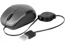 DACOMEX mini souris noire à cordon usb rétractable