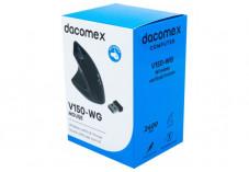 DACOMEX Souris verticale gaucher V150WG sans fil noire