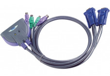 Aten CS62S Switch kvm 2 ports VGA/PS2 câbles intégrés 90cm