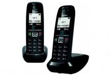Gigaset AS470 DUO téléphone DECT noir - base + 2 combinés