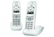 Gigaset AS470 DUO téléphone DECT blanc - base + 2 combinés