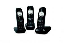 Gigaset AS470 TRIO téléphone DECT noir - base + 3 combinés