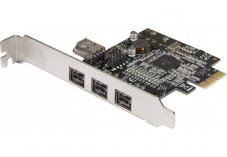 Carte PCI-Express firewire 800 3port 1394b + 1x1394a interne