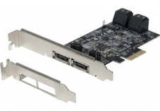 Carte pcie sata iii 6GBPS 4 ports internes + 2 esata ext