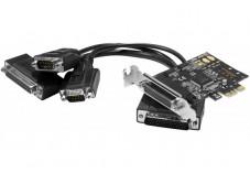 Carte PCI-Express 1X - 2xRS232 +1xParallele Low Profile