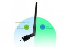 DEXLAN MINI CLÉ USB WiFi AC1200 ANTENNE DEMONTABLE