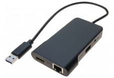 Adaptateur USB 3.0 HDMI + RJ45 Gigabit + HUB