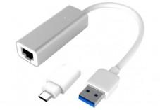 Adaptateur USB 3.1 métal Gigabit + convertisseur USB type-C